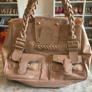 Valentino nude color shopper bag in patent leather